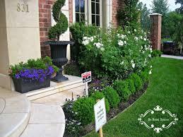 Backyard Flower Garden Ideas by Exterior Development With Flower Bed Ideas Front Of House