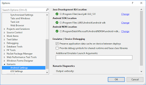 android developer kit windows installation xamarin