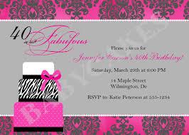 40th birthday party invitations cimvitation