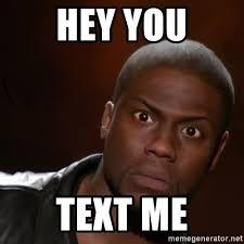 Kevin Hart Text Meme - hey you text me kevin hart nigga meme generator