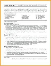 Warehouse Packer Resume Resume Warehouse Manager Resumes Examples Resume For Experience