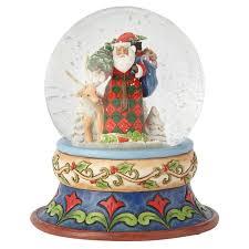 baptism snow globes jim shore season of giving santa with deer snow globe snow