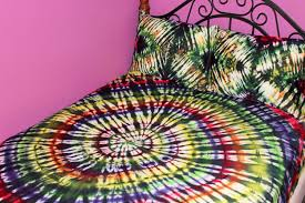 gorgeous bedroom decor tie dye comforter along with pillow plus