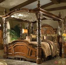 Wall Canopy Bed by Bed U0026 Bath Four Poster Canopy Bed With Comforter And Table Lamp