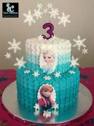 resultado de imagem para frozen themed buttercream ruffle cake
