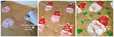 potato print reindeer wrapping paper our house