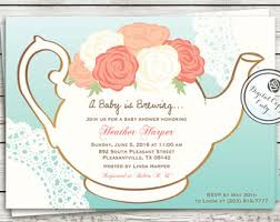 baby shower tea party invitations theruntime com