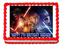wars edible cake toppers wars the awakens party edible cake image cake topper