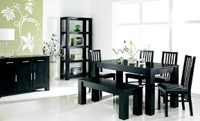 black dining table with bench amazing ideas black dining table set well suited black dining table