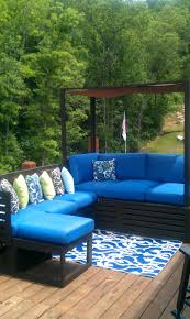 Make Your Own Outdoor Rug outdoor u0026 landscaping awesome looking blue sectional u shaped