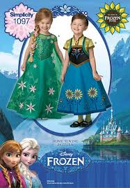 simplicity sewing pattern childs fever frozen anna elsa costume 3