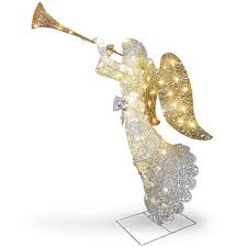 lighted angel christmas decoration christmas 48 lighted angel indoor outdoor yard prelit lawn figure