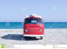 volkswagen van with surfboard clipart van with surf board on the beach stock image image 63050295