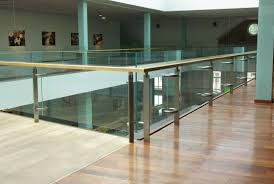 nice modern design of the indoor balcony railings that has natural