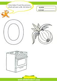 kids under 7 letter o worksheets and coloring pages
