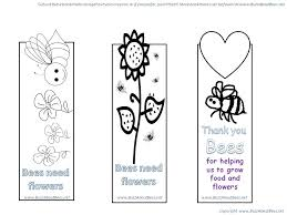 bee themed bookmarks