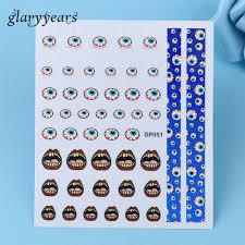 eyeball decorations halloween popular halloween nail art stickers buy cheap halloween nail art