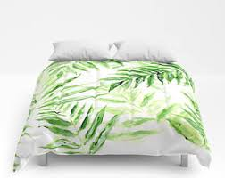 Tropical Duvet Covers Queen Tropical Bedding Etsy