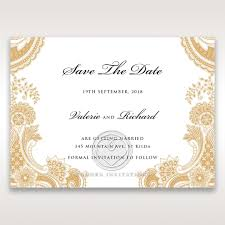save the date designs gold and white save the date wedding card