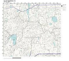 pasadena zip code map amazon com zip code wall map of south pasadena ca zip code map