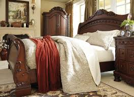 north shore king sleigh bed north shore traditional dark brown