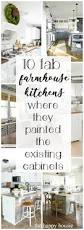 10 fab farmhouse kitchen makeovers where they painted the