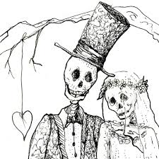Halloween Skeletons by Skeleton Art Skeleton Wedding Day Of The Dead Wedding Print Bride