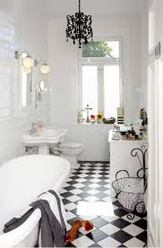 Retro Bathroom Ideas Download Black And White Floor Tile Room Gen4congress Com