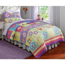 Girls Patchwork Bedding by Happy Owls Bedding Quilt Set Walmart Com