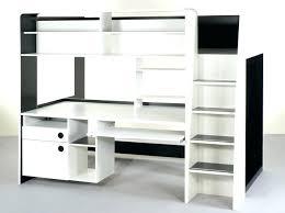 lit mezzanine noir avec bureau lit mezzanine simple lit mezzanines finest dco lit mezzanine place