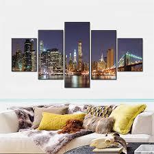Modern City Aliexpress Com Buy 5pcs Landscape Wall Art Paint Melamine Sponge