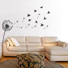 temporary peel off wall paint wall beautiful dandelion wall decal to bring your room feel fresh