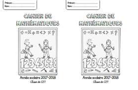 Page de garde cahier de mathématiques CPCE1CE2CM1CM2  Fée des