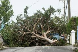 hurricane pummels bermuda with wind then spins away