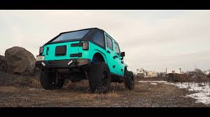 matte black jeep with teal avery matte tiffany blue jeep wrangler youtube