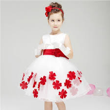 designer kids u0027 dresses pretty ball gown knee length white and red