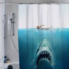 Custom Shower Curtains Shark Jaws Shower Curtain Custom Shower From Supecurtain On Etsy