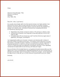 cover letter restaurant manager download restaurant cover letter