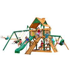 Backyard Cedar Playhouse by Kids Playhouses Playsets U0026 Swing Sets The Home Depot