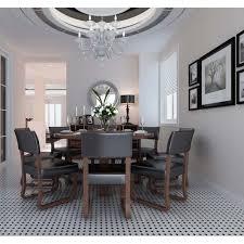 wholesale glazed porcelain pool tile mosaic black white octagon