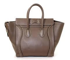 celine dune mini luggage satchel bag grey taupe color at 1stdibs