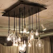 Light Bulb Chandeliers Edison Light Bulbs Chandelier Home Design Ideas