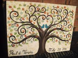 Wedding Tree Wedding Guest Book Thumbprint Tree 22 X 28