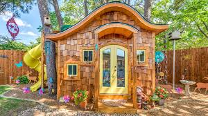 take a tour inside this hobbit inspired backyard playhouse today com