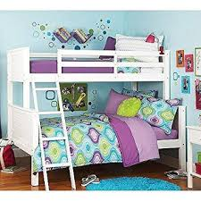 Amazoncom Your Zone Zzz Collection Twinoverfull Bunk Bed - Twin over full wood bunk beds