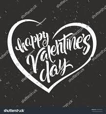happy valentines day lettering modern handwritten stock vector
