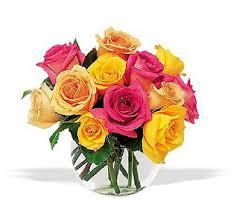multicolor roses send roses online multicolor roses bowl