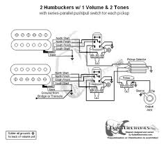 humbuckers 3 way toggle switch 1 volume 2 tones series parallel