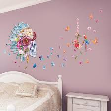 fashion skull flower head feather butterfly parrot birds home
