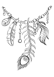 feather coloring page eson me